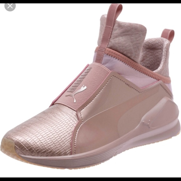 Rose gold Kylie Jenner Puma sneakers b2c63d4ad